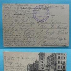 Sellos: FILATELIA - PRIMERA GUERRA MUNDIAL - ALEMANIA - FELDPOST CORREO DE CAMPAÑA - 27-3-1914 - VER MARCAS . Lote 135813366