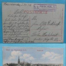 Sellos: FILATELIA - PRIMERA GUERRA MUNDIAL - ALEMANIA - FELDPOST CORREO DE CAMPAÑA - 29-4-1914 - VER MARCAS . Lote 135813734