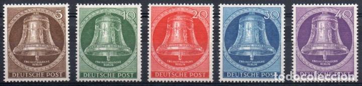 ALEMANIA BERLÍN AÑO 1953 YV 87/91*** CAMPANA DE LA LIBERTAD (Sellos - Extranjero - Europa - Alemania)