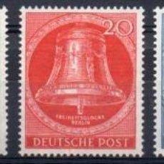 Sellos: ALEMANIA BERLÍN AÑO 1953 YV 87/91*** CAMPANA DE LA LIBERTAD. Lote 135829282