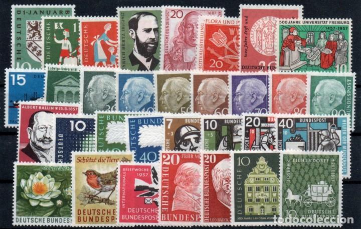 ALEMANIA FEDERAL AÑO 1957 YV 125/51*** AÑO COMPLETO (Sellos - Extranjero - Europa - Alemania)