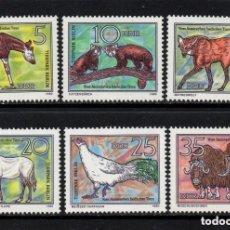 Sellos: ALEMANIA ORIENTAL DDR 1980 IVERT 2181/6 *** ANIMALES EN VIA DE DESAPARICIÓN - FAUNA. Lote 136387934