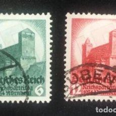 Sellos: SEGUNDO CONGRESO DE NÜREMBERG, CASTILLO. 1934. 2 VALORES (Nº 511-512 YVERT). Lote 139788190