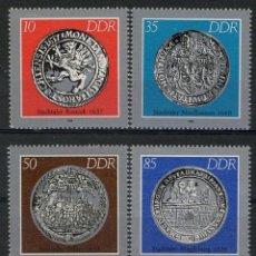 Briefmarken - Alemania Oriental DDR 1986 Ivert 2661/5 *** Monedas Históricas - 139889378