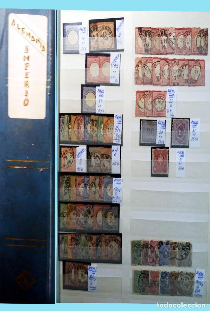 CLASIFICADOR CONTENIENDO PEQUEÑO STOCK SELLOS Y SERIES.ALEMANIA IMPERIO ANOS 1872 A 1944.NUEVO-USADO (Sellos - Extranjero - Europa - Alemania)