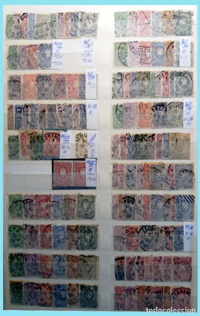 Sellos: CLASIFICADOR CONTENIENDO PEQUEÑO STOCK SELLOS Y SERIES.ALEMANIA IMPERIO ANOS 1872 A 1944.Nuevo-Usado - Foto 2 - 140905950