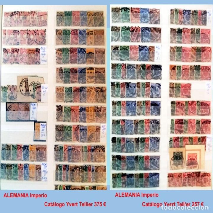 Sellos: CLASIFICADOR CONTENIENDO PEQUEÑO STOCK SELLOS Y SERIES.ALEMANIA IMPERIO ANOS 1872 A 1944.Nuevo-Usado - Foto 3 - 140905950