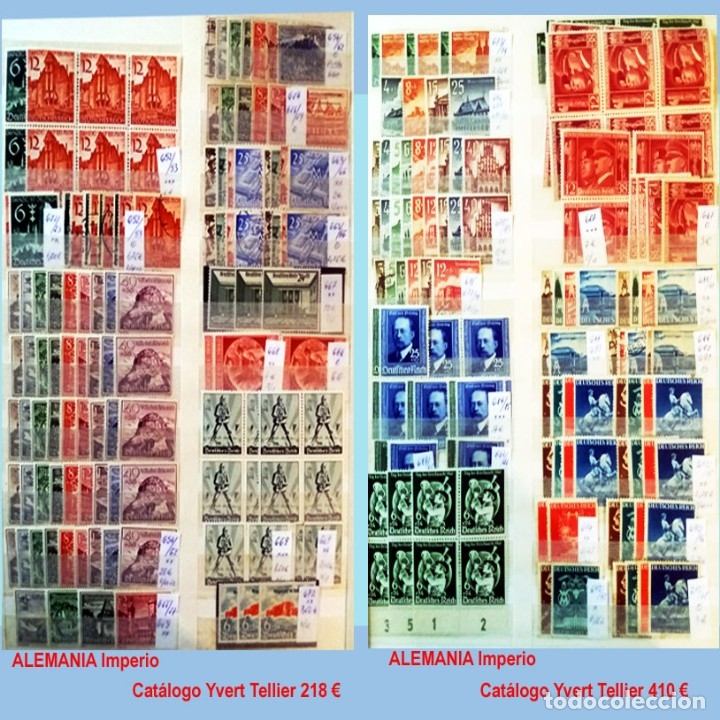 Sellos: CLASIFICADOR CONTENIENDO PEQUEÑO STOCK SELLOS Y SERIES.ALEMANIA IMPERIO ANOS 1872 A 1944.Nuevo-Usado - Foto 26 - 140905950