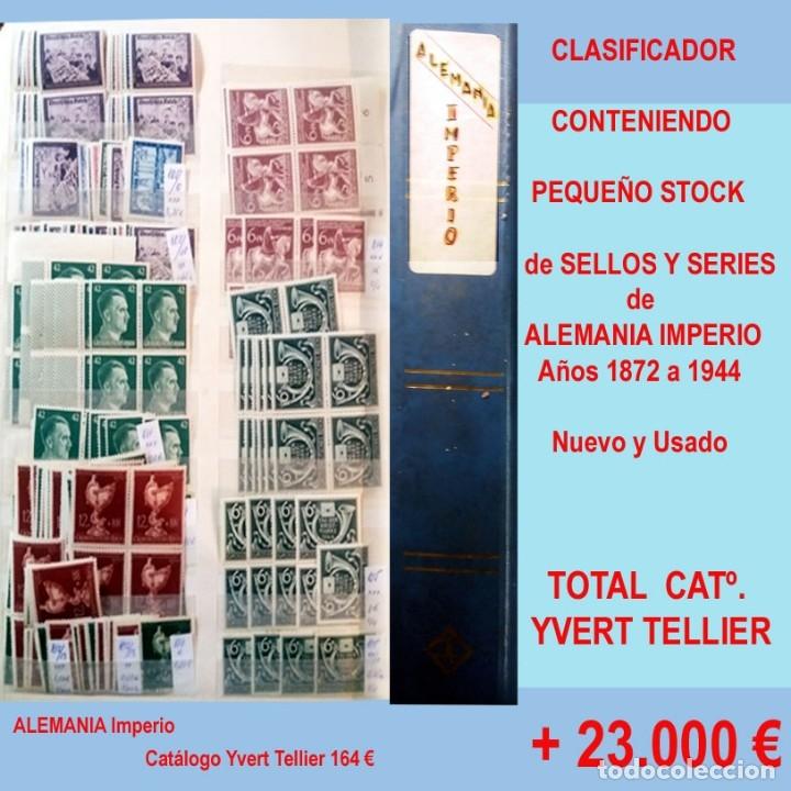 Sellos: CLASIFICADOR CONTENIENDO PEQUEÑO STOCK SELLOS Y SERIES.ALEMANIA IMPERIO ANOS 1872 A 1944.Nuevo-Usado - Foto 32 - 140905950
