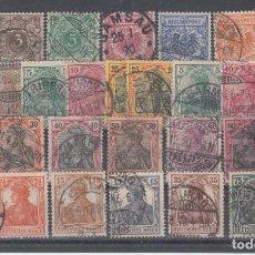 Sellos: ALEMANIA IMPERIO, 1889 - 1919 LOTE DE SELLOS USADOS. Lote 142823002
