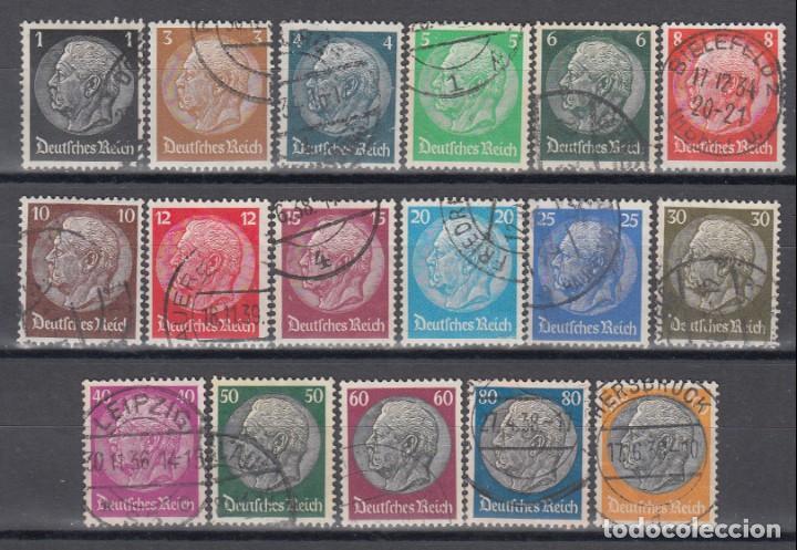ALEMANIA IMPERIO, 1933 - 1936 YVERT Nº 483 / 498 (Sellos - Extranjero - Europa - Alemania)