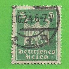 Sellos: ALEMANIA IMPERIO - MICHEL 356 - YVERT 349 - NUEVA ÁGUILA IMPERIAL. (1924).. Lote 143163630