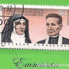 Sellos: ALEMANIA FEDERAL - MICHEL 1352 - YVERT 1184 - DECLARACIÓN SAGRADA DE E. STEIN Y R. MAYER. (1988).. Lote 143376758