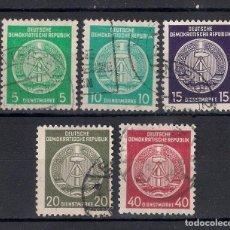 Sellos: ALEMANIA DDR 1956 MICHEL 29/33 USADOS - 1/35. Lote 143777618