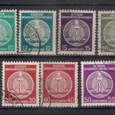 Sellos: ALEMANIA DDR 1954 MICHEL 18/28 USADOS - 1/35. Lote 143777682