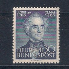 Sellos: ALEMANIA 1953 MICHEL Nº 166 ** MNH - 1/36. Lote 143778046