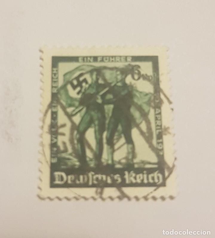 SELLO ALEMANIA NAZI TERCER REICH, ESVASTICA. (Sellos - Extranjero - Europa - Alemania)