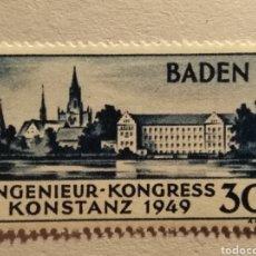 Selos: BADEN ALEMANIA, MICHEL 46 ** 1949, SIN CHARNELA. Lote 145024812