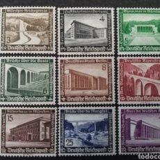 Sellos: ALEMANIA IMPERIO III REICH, YT 582/590 ** SIN CHARNELA, MI 634 - 642, 1936. Lote 145313057