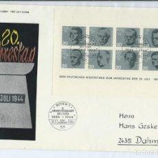 Sellos: ALEMANIA,1964,HOJA BLOQUE NÚMERO 2,MATASELLOS DE PRIMER DÍA. Lote 146542922