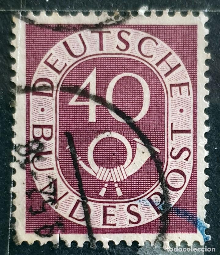 ALEMANIA - DEUTSCHE BUNDESPOST - CUERNO POSTAL Y CIFRA - 40 PFG - 1951 (Sellos - Extranjero - Europa - Alemania)