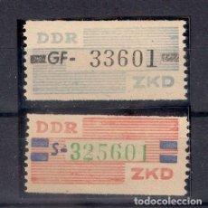 Sellos: ALEMANIA DDR 1959 MICHEL 26-27 MNH - 8/49. Lote 146667654