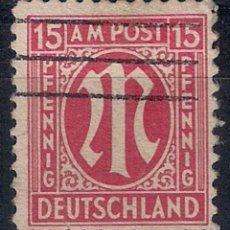 Sellos: ALEMANIA ZONE USA 1945 MICHEL 8 USED - 8/32. Lote 146724622