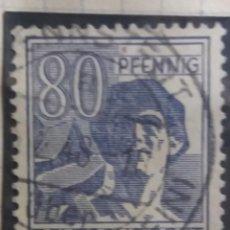 Sellos: DEUTSCHE POST, 80 PFENNIG, 1948 . Lote 146936774