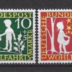 Francobolli: ALEMANIA 1959 MICHEL 322/325 ** MNH - 10/5. Lote 192659813