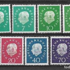 Sellos: ALEMANIA 1959 NR 302 - 306 ** MNH - 10/3. Lote 147527882