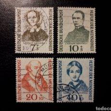 Briefmarken - ALEMANIA FEDERAL. YVERT 98/101. SERIE COMPLETA USADA. BENEFACTORES DE LA HUMANIDAD. - 147554701
