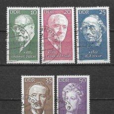 Sellos: ALEMANIA DDR 1972 USADO PERSONALIDADES FAMOSAS. - 9/2. Lote 147558166