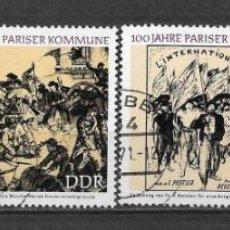 Sellos: ALEMANIA DDR 1971 USADO CENTENARIO DE LA COMUNA DE PARÍS - 9/2. Lote 147558282
