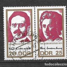 Sellos: ALEMANIA DDR 1971 USADO LÍDERES DEL MOVIMIENTO ESPARTAQUISTA. - 9/2. Lote 147558310