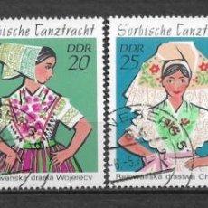 Sellos: ALEMANIA DDR 1971 USADO TRAJES DE BAILE SORBIANOS - 9/2. Lote 147558342