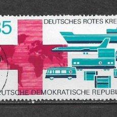 Sellos: ALEMANIA DDR 1972 USADO CRUZ ROJA TRABAJANDO EN EL DDR. - 9/3. Lote 147558434