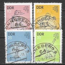 Sellos: ALEMANIA DDR 1975 USADO 5º SPARTAKIAD INFANTIL Y JUVENIL. - 9/3. Lote 147558462