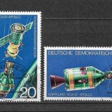 Sellos: ALEMANIA DDR 1975 USADO PROYECTO DE PRUEBA ESPACIAL APOLLO SOYUZ - 9/3. Lote 147558486