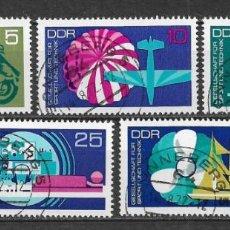 Sellos: ALEMANIA DDR 1972 USADO SOCIEDAD PARA EL DEPORTE Y LA TECNOLOGÍA. - 9/3. Lote 147558526