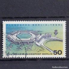 Sellos: ALEMANIA BERLÍN 1974 • USADO • AEROPUERTO DE BERLIN-TEGEL. Lote 147571902