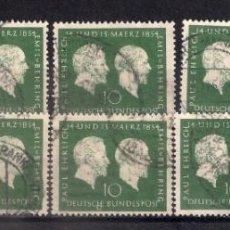 Sellos: ALEMANIA 1954 MICHEL 197 USADO - 9/34. Lote 147575882