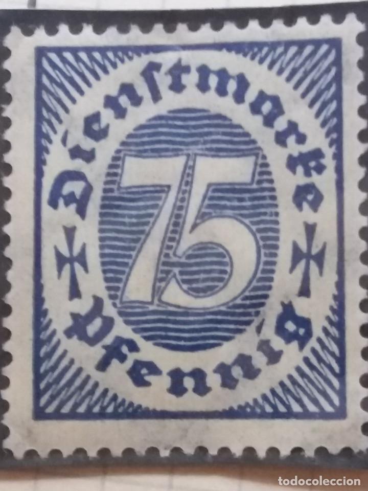 SELLO ALEMAN, DIENSTMARKE, 75, PFENNIG, 1921, NUEVO. (Sellos - Extranjero - Europa - Alemania)