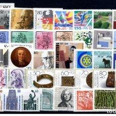 Sellos: ALEMANIA FEDERAL - 1987 - MICHEL 1306/1346** MNH (AÑO COMPLETO) (VALOR DE CATALOGO.- 60.00€). Lote 156540885