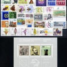 Sellos: ALEMANIA FEDERAL - 1984 - MICHEL 1197/1233** MNH (AÑO COMPLETO) (VALOR DE CATALOGO.- 60.00€). Lote 148240086
