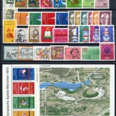 Sellos: ALEMANIA FEDERAL - 1972 - MICHEL 710/752** MNH (AÑO COMPLETO) (VALOR DE CATALOGO.- 40.00€). Lote 148240830
