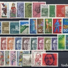 Sellos: ALEMANIA FEDERAL - 1970 - MICHEL 612/657** MNH (AÑO COMPLETO) (VALOR DE CATALOGO.- 25.00€). Lote 148240966