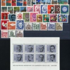 Sellos: ALEMANIA FEDERAL - 1964 - MICHEL 412/461** MNH (AÑO COMPLETO) (VALOR DE CATALOGO.- 20.00€). Lote 148241430
