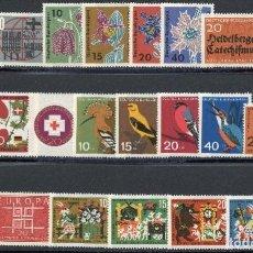 Sellos: ALEMANIA FEDERAL - 1963 - MICHEL 390/411** MNH (AÑO COMPLETO) (VALOR DE CATALOGO.- 9.00€). Lote 148241462