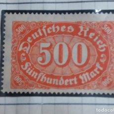 Sellos: SELLO ALEMAN, DEUTSCHE REICH, 500 MARK 1922 NUEVO. Lote 148353426