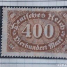 Sellos: SELLO ALEMAN, DEUTSCHE REICH, 400 MARK 1922 NUEVO. Lote 148353582